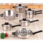 Maxam(R) 17pc 9-Element Surgical Stainless Steel Waterless Cookware Cost $279.95