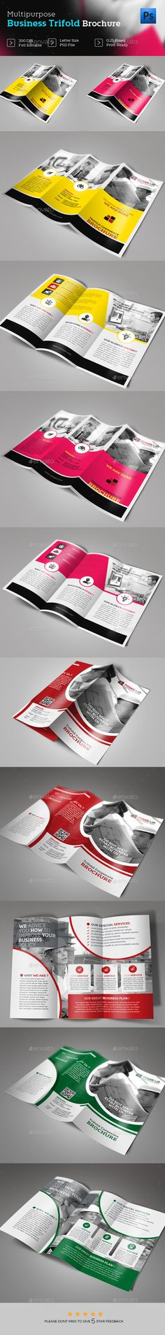 Trifold Brochure Design Bundle Templates PSD. Download here: https://graphicriver.net/item/trifold-brochure-design-bundle-/17604354?ref=ksioks