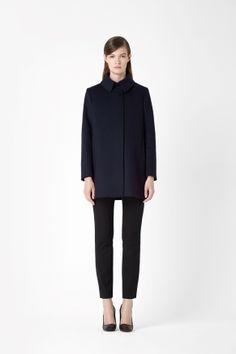 COS . Wool box pleat jacket