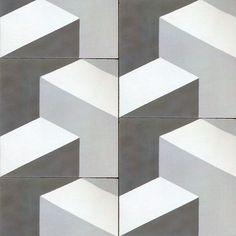 Graphic floor tile