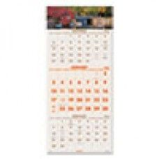 Desk Supplies>Desk Set / Conference Room Set>Holders> Calendar Holders: Scenic Three-Month Wall Calendar, 12 1/4 x 27, 2015-2017