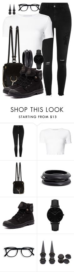 """""""~412\\412~"""" by taytay-55 ❤ liked on Polyvore featuring River Island, Rosetta Getty, Chloé, ZENZii, Palladium and CLUSE"""