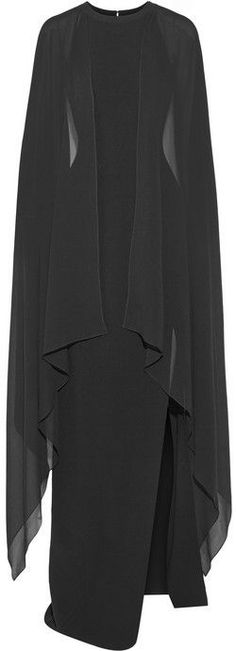 Michael Kors Stretch-wool and silk-georgette gown on shopstyle.com
