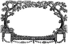 Free Antique Labels Trees
