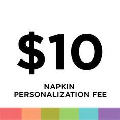 Napkin Personalization Fee