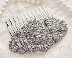 Great Gatsby Rhinestone Hair CombArt Deco by hangingbyathread1, $82.00