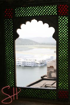 View of Lake Palace from City Palace Udaipur,India
