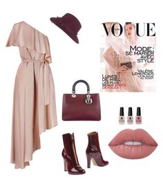 """""""Untitled #840"""" by maricelmartinez on Polyvore featuring Zimmermann, Valentino, Christian Dior, Victoria's Secret, Maison Michel and Lime Crime"""