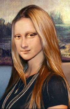 The new Mona Lisa by Patrizia (Germany) Photomontage, Lisa Gherardini, Cool Pictures, Funny Pictures, La Madone, Mona Lisa Parody, Mona Lisa Smile, American Gothic, Belle Villa