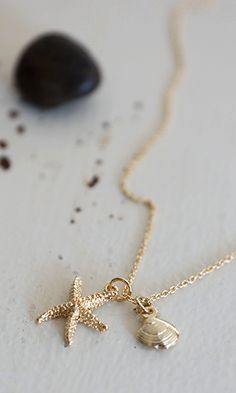Sunday deals and steals - Wish upon a Starfish necklace-Reminds me of Making Waves by Ophelia London