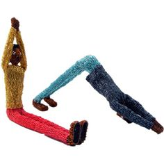Yoga Dolls by Monkeybiz artist Jeremiah - #beaded #handmade #fairtrade #southafrica #crafts #dolls #art