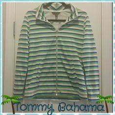 Tommy Bahama Light Weight Jacket! 100% Cotton. Zipps up all the way. Has pockets! Perfect layering piece invetween seasons! Tommy Bahama Jackets & Coats
