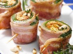 Speck-Zucchini-Röllchen mit Feta-Füllung - smarter - Kalorien: 603 Kcal - Zeit: 30 Min. | eatsmarter.de