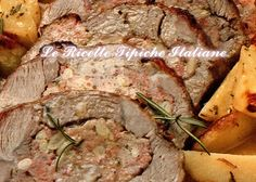 Tasca di vitello ripiena Easy Bake Oven, Oven Recipes, Main Dishes, Food And Drink, Beef, Baking, Chicken, Food Items, Main Course Dishes