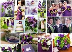 Wedding ideas -purple and green