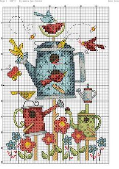 flowers and birds Cross Stitch Bookmarks, Cross Stitch Cards, Cute Cross Stitch, Beaded Cross Stitch, Cross Stitch Animals, Modern Cross Stitch, Cross Stitch Flowers, Cross Stitch Kits, Counted Cross Stitch Patterns
