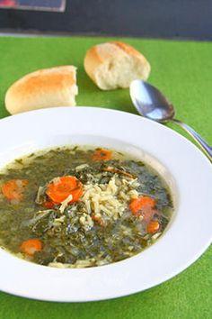 Постна спаначена супа