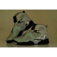 Air Jordan 8 (VIII) Luminous Wolf Grey/Black Men Shoes $58.00 Low price go to:  http://www.jordanshoesmart.com