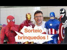 SORTEIO Homem Aranha Venom Homem de Ferro Capitão América Caveira Vermel...