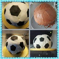 Fussballtorte Soccer Ball, Cake, Football Soccer, Pies, European Football, Kuchen, European Soccer, Soccer, Torte