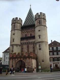 Spalentor, Basel Switzerland -- medieval city gate