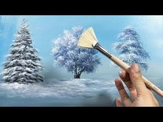 to draw a beautiful winter tree with a fan brush - lesson 17 - YouT . How to draw a beautiful winter tree with a fan brush - lesson 17 - YouT .,How to draw a beautiful winter tree with a fan brush - lesson 17 - YouT . Acrylic Painting Techniques, Painting Videos, Art Techniques, Painting & Drawing, Painting Trees, Brush Drawing, Painting Snow, Painting Walls, Winter Painting