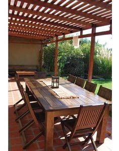 Pergola Over Garage Door Key: 7982725279 Outdoor Kitchen Design, Patio Design, Garden Design, Greenhouse Shed, Outdoor Tables, Outdoor Decor, Villa, Roof Panels, Covered Pergola