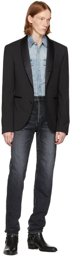 Pierre Balmain - Black Tuxedo Blazer
