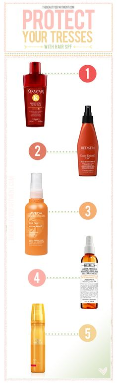 Don't forget to keep some SPF handy for your hair + protect it from the sun. Visit thebeautydepartment.com for a full breakdown of our favorite SPFs for hair!
