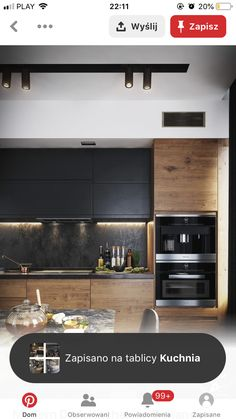 Kitchen Room Design, Kitchen Dinning, Modern Kitchen Design, Interior Design Living Room, Kitchen Decor, Black Kitchens, Home Kitchens, Kitchen Diner Extension, Küchen Design