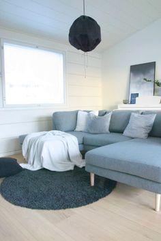 talo markki - grey sofa