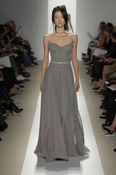 grey shiffon maxi dress