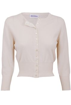Cashmere Cropped Cardigan - Women's Cardigans | Brora | Cardigans ...