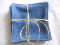 Recycled Blue Jean Coaster Set by jeanoligy on Etsy, $5.00
