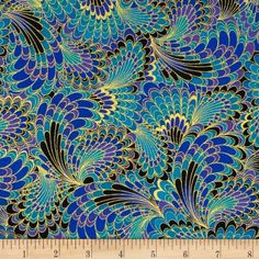 Timeless Treasures Palazzo Metallic Abstract Endpaper Fabric by The Yard, Peacock Peacock Quilt, Peacock Fabric, Peacock Pattern, Peacock Colors, Peacock Blue, Peacock Feathers, Peacock Design, Pattern Art, Home Decor Fabric