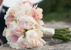pale pink peony bouquet for Bridesmaids