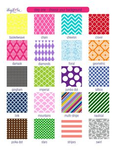 tons of cute patterns that can be personalized at abigaillee.com