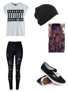 """Untitled #111"" by purpleswaggy19 ❤ liked on Polyvore featuring WithChic and Vans"