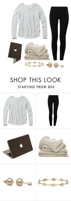 """""""After school"""" by classygrace ❤ liked on Polyvore featuring Hollister Co., NIKE, Valentine Goods and Melinda Maria"""