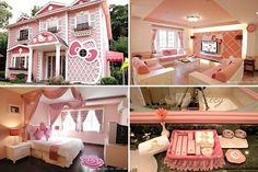 Hello Kitty House-okay I love me some hello kitty but even I think this is a lil on the crazy side lol still cute though
