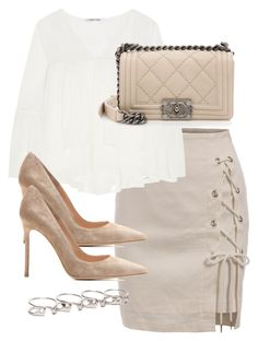"""""""Untitled #3189"""" by theeuropeancloset on Polyvore featuring Elizabeth and James, Chanel, Gianvito Rossi and Maison Margiela"""