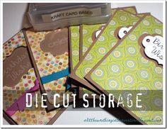 Die Cut Storage ideas