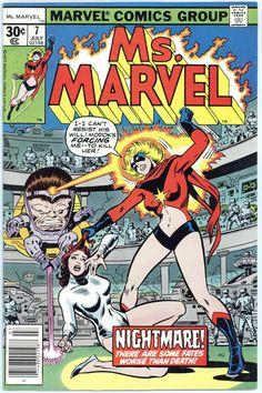 Ms Marvel 7 Bronze Age Marvel Comics appearance Agent 17 VF F Marvel Girls, Ms Marvel, Marvel Comics Superheroes, Marvel Comic Books, Comic Book Characters, Marvel Characters, Marvel Heroes, Comic Character, Comic Books Art