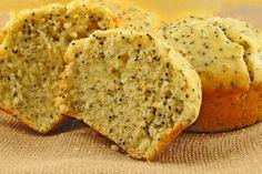 Lemon Poppy Seed Buttermilk Muffins: Fresh lemon juice, lemon zest and buttermilk give these moist, tender muffins a light texture and fresh flavor.