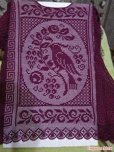 Irish crochet &: TUNIC. Filet crochet.