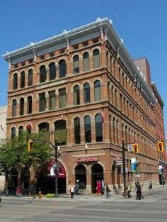Right House Building...more Hamilton architecture..Hughson & King in Downtown Hamilton. The bldg. was built 1890.