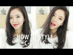 [한글자막] How I Style My Hair with C-Curls ♥ 헤어 스타일링 C컬! - YouTube