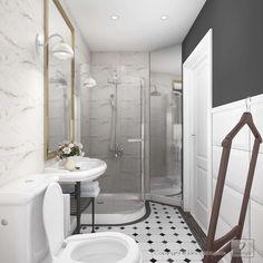 Interior Design - Project of the hotel bathroom - 3D rendering - www.rsquare.pl -  Project Karolina Janczy © janczyart.com
