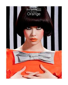 60s Citrus Campaigns - The MAC All About Orange Collection Revives a MOD Inspiration