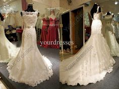 Wholesale Wedding Dresses - Buy White High-Neck Sleeveless Beaded Sequin Memaid Cathedral Train Lace Bridal Gowns Wedding Dresses, $204.55 | DHgate
